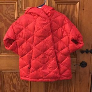 Women's North Face puffer poncho with hood